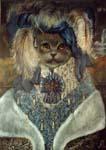 Британская голубая в восточном костюме
